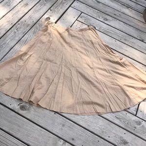 Old Navy Deep Gored Flared Linen/Cotton Skirt